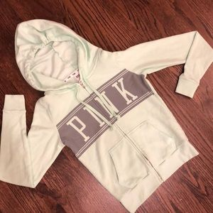 Victoria's Secret PINK Green Hoodie Sweatshirt XS